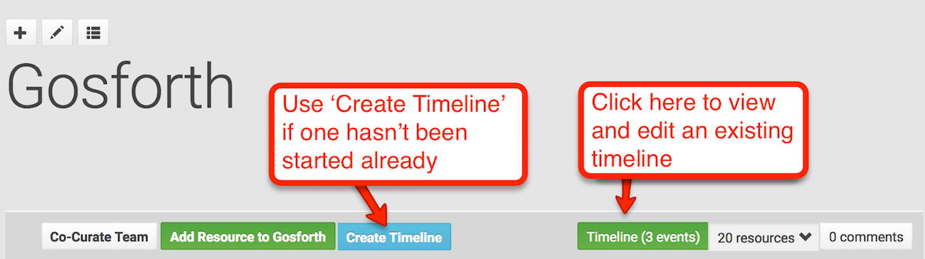 Accessing Timelines