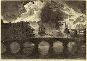 Great Fire of Gateshead and Newcastle, 1854