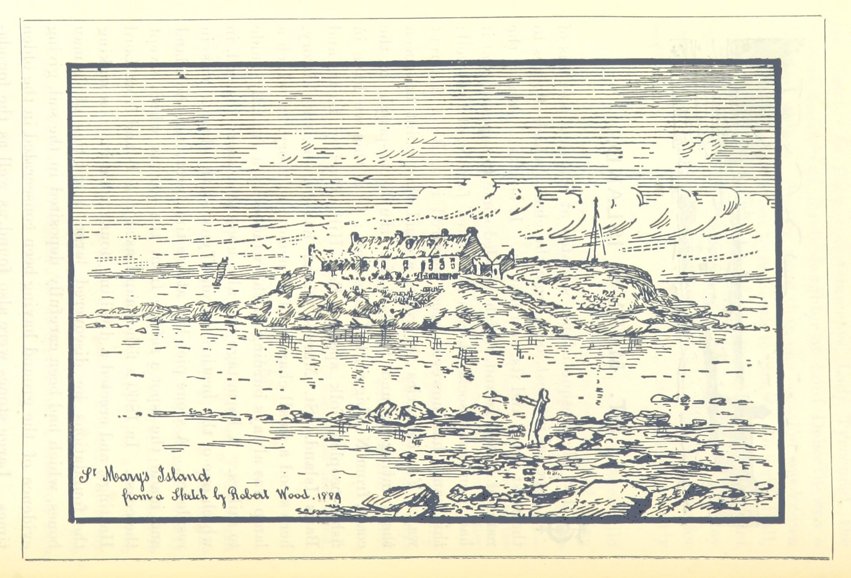 St Mary's Island, sketch 1889